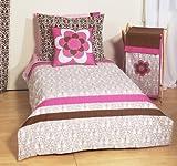 Damask Pink/Choc 4 Toddler Bed