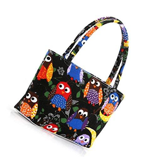 Teresamoon Colorful Bag Cosmetic Bag Make Up Case (Black)