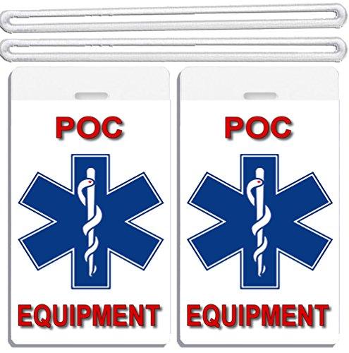 2x Portable Oxygen Concentrator Equipment Luggage Tags TSA Carry-On CPAP BiPAP APNEA POC APAP Respiratory Device