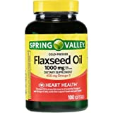 Cheap Spring Valley Flaxseed Oil 1000 mg (old and new package are shipped in random)