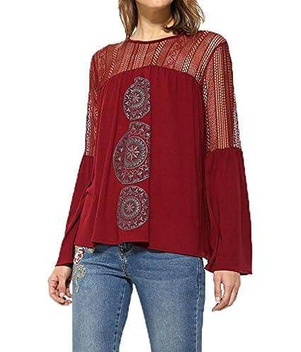 1c273b779c4d2 Desigual Women s Long Sleeve t-Shirt TS NEUSIFU 17WWTK13  Amazon.co.uk   Clothing