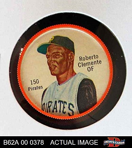 1962 Salada Coins # 150 Roberto Clemente Pittsburgh Pirates (Baseball Card) Dean's Cards 5 - EX Pirates