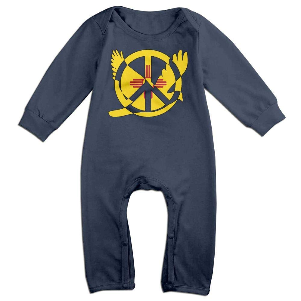TYLER DEAN Baby Boy Jumpsuit New Mexico Flag Peace Sign Symbol Baby Rompers