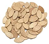 Birch Beech Wooden Jointing Mini Biscuits with Clamshell, Marked #R3 Furniture DIY Handcraft 90 Pcs