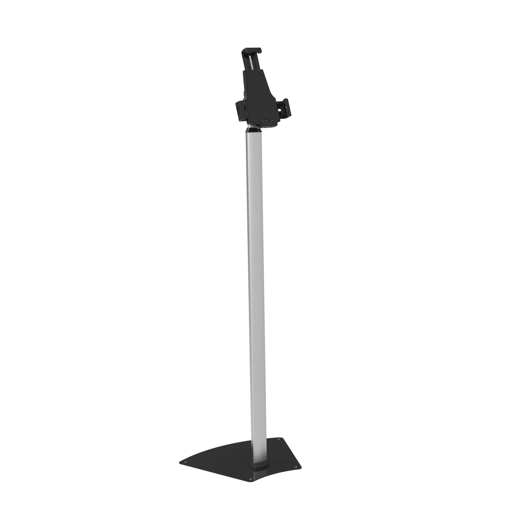 Anti-Theft Adjustable Tablet Security Stand - Universal Metal Floor Mount Tablet Holder w/Lock, 360 ° Rotation, Works w/iPad Mini, Kindle Fire HD, Samsung Galaxy, Android Tablets - Pyle PSPADLK62