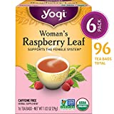 Yogi Tea - Woman's Raspberry Leaf - Supports the Female System - 6 Pack, 96 Tea Bags Total