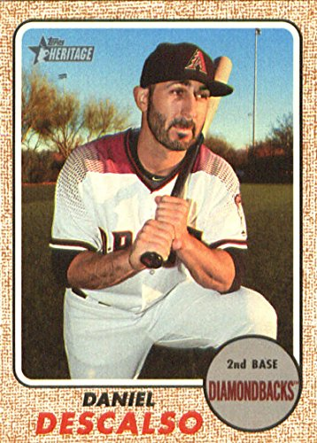 2017 Topps Heritage High Numbers #656 Daniel Descalso Arizona Diamondbacks Baseball Card (Baseball Over Diamond)