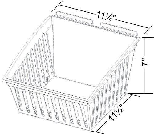 New Retail Clear Tilt Medium Cratebox 11.25''W x 11.5''D x 7''H