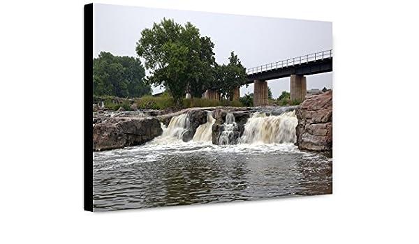 Amazoncom Classicpix Canvas Print 20x30 Falls Of The Big Sioux