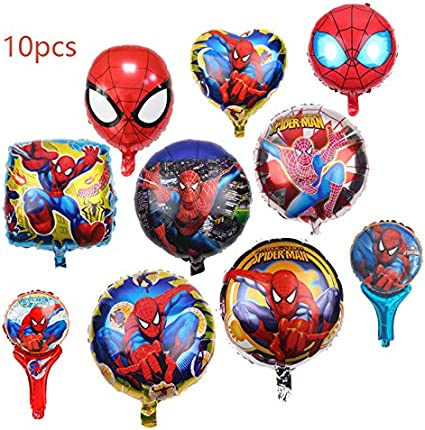 "marvel Balloons 12/"" Spiderman Birthday balloons pack of 5 superhero party"