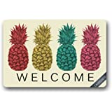 Colsprint Custom Pineapple Fruit Doormat Cover Rug Outdoor Indoor Floor Mats Non-Slip Machine Washable