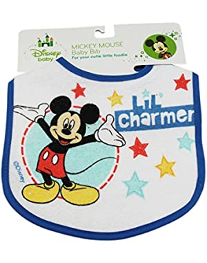 Blue Mickey Mouse Charmer Disney Baby Bib