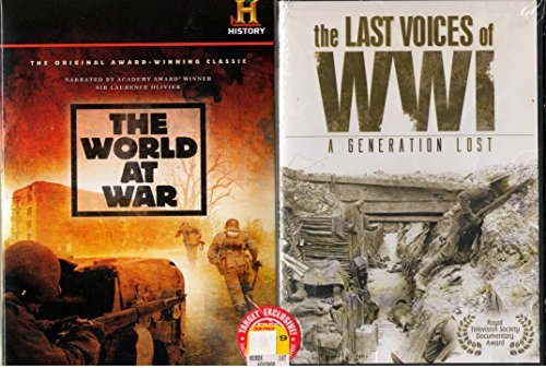 The World At War : The History Channel Complete Uncut 23 Hours 24 Min Classic Series with Bonus Series - The Last Voices of World War 1 - 3 Hours 41 Min - Over 27 Hours Combined by The History Channel - Target Exclusive