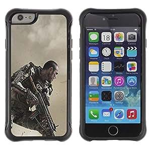 CASSO Cases / Apple Iphone 6 PLUS 5.5 / FUTURE SOLDIER SUIT / Robusto Prueba de choques Caso Billetera cubierta Shell Armor Funda Case Cover Slim Armor