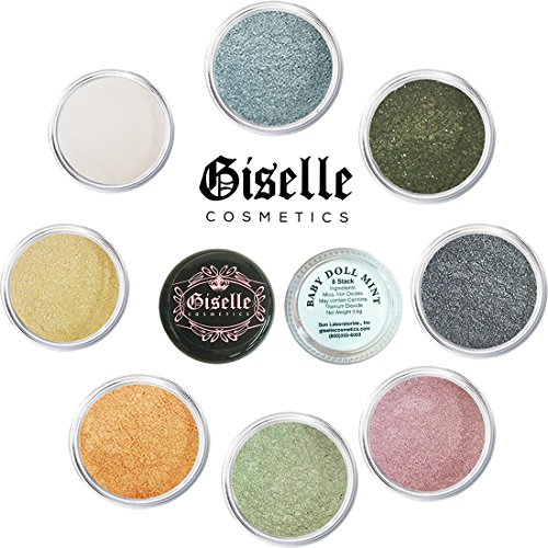 Mineral Makeup By Giselle Baby Doll Mint 8 Stack Eyeshadow (Princess Stack 8)