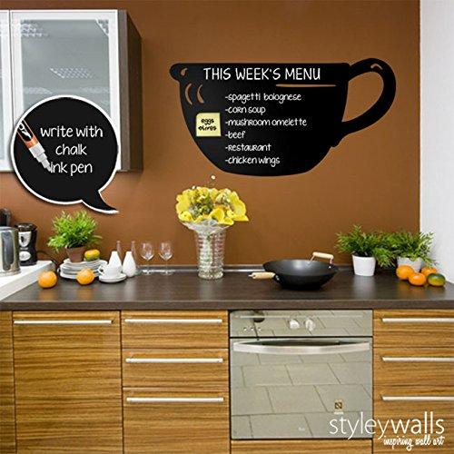 Kitchen Chalkboard Wall Decal, Chalk Board Food Menu Wall Decal, Chalkboard  Decals Wall Sticker