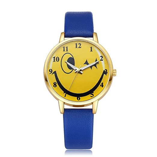 Relojes de Cuarzo para Mujer, diseño de Sonrisa, Esfera Digital, Reloj de Pulsera