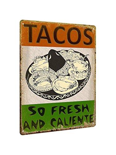 Amazon Com Tacos Mexican Food Metal Sign Restaurant Vintage