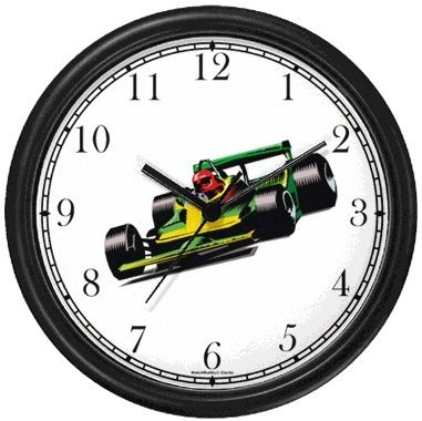 Formula One Grand Prix Car No.1 - Auto Racing Theme Wall Clock by ...