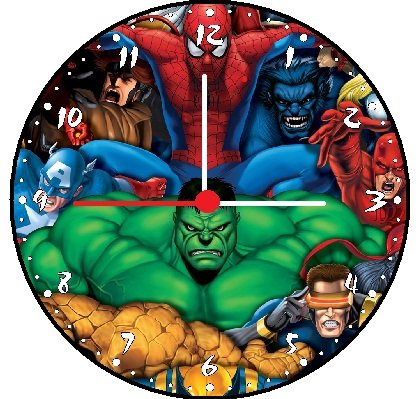 Superhero Clock