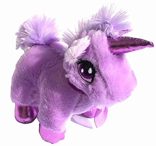 """Small Stuffed 8"""" Unicorn Toy (Purple)"""