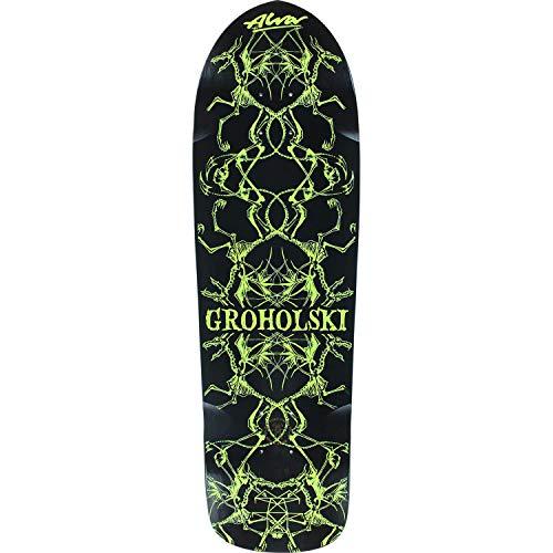 Alva Skateboards Tom Groholski Guest Black/Yellow Old School Skateboard Deck - 9.25