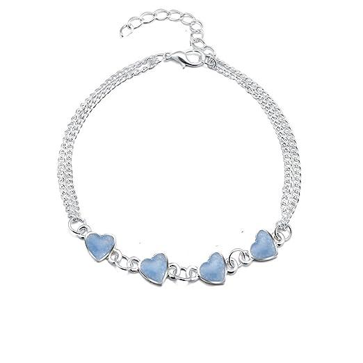 Dolland Blue Summer Night Glowing Bracelet Jewelry Heart Bracelet