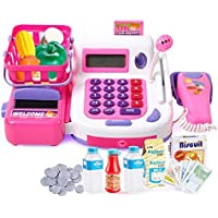 I-Gadgets Realistic Educational Cash Register Toy Supermarket Set with Working Calculator and Sound
