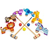 Deluxe Jungle Croquet Wooden Play Set - 11 Pc Set!