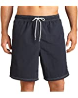 Nautica Men's Anchor Solid Navy Swimwear Trunks Shorts