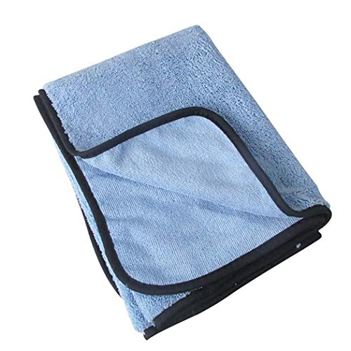 Car Cleaning Vehicle Drying Towel Huhuswwbin, Large Size Chenille Thicken Soft Car Drying Dust Removal Towel Washing Cleaning Cloth - Blue