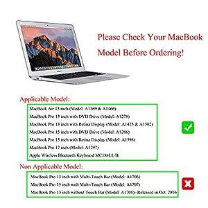 "Masino Silicone Keyboard Cover Ultra Thin Keyboard Skin for MacBook Air 13"" MacBook Pro with Retina Display 13""15"" 17"" (Wood Brown)"