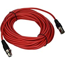 Seismic Audio-SAXLX-50-50-Feet Red XLR Male to XLR Female Microphone Cable-Balanced-50 Foot Patch Cord