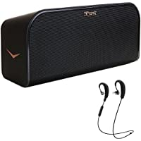 Klipsch Wireless Music System with Bluetooth Black (KMC3) with Klipsch R6 Wireless In-Ear Bluetooth Headphones with Mic and Bluetooth