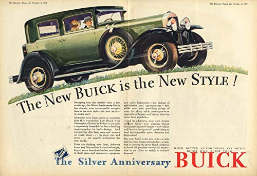 - The new Buick is the New Style! 4-door sedan ad 1929 LD