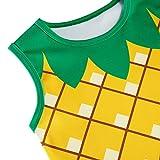 Funnycokid Pineapple Summer Dress for Girl