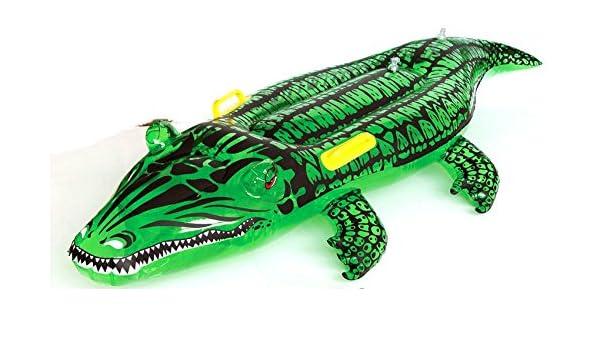 COCODRILO HINCHABLE PLAYA 145cm PLASTICO CRISTAL: Amazon.es ...