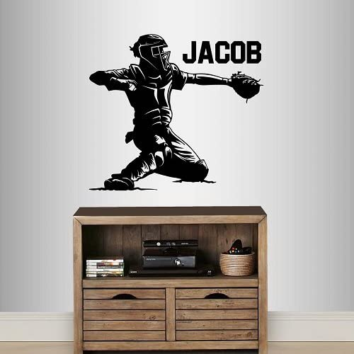 g290 Vinyl Wall Decal Baseball American Game Sports Team Players Stickers