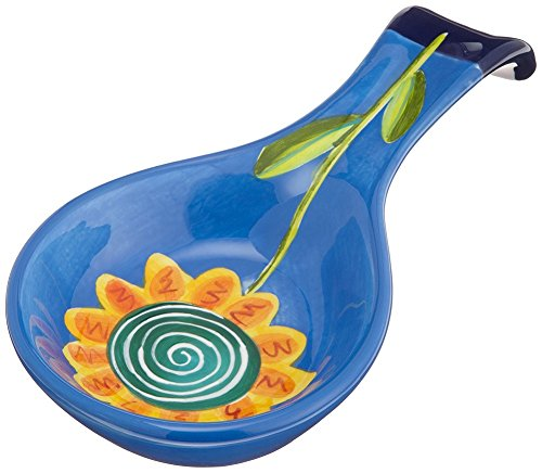 Mary Naylor Henriksen Imports Flower Spoonrest, Choice of Color (Blue)
