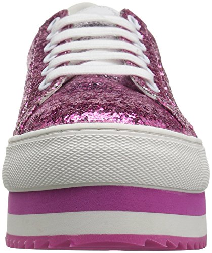 Marc Jacobs Delle Donne Grande Piattaforma Lace Up Sneaker Colore Rosa / Multi