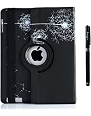 inShang Case for iPad 2 iPad 3 iPad 4 Premium PU Leather Multi-Function Stand Cover 360 Degree Rotation, with Auto Sleep Wake Function+1pc High end Class Business Stylus Pen