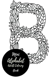 Mini Alphabets Adult Coloring Book Travel To Go Small Portable ABC A Z Letters