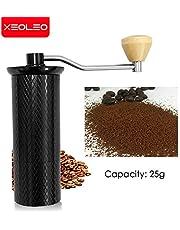 XEOLEO 25g aluminiowy ręczny młynek do kawy młynek do zadziorów ze stali nierdzewnej stożkowy młynek do kawy ręczny młynek do kawy