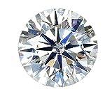Akvode Women's Round 5 Carats Moissanite Stone DF Colorless Simulated Diamond Loose Stone Brilliant Cut VVS Clarity(5 Carats=11mm Diameter)