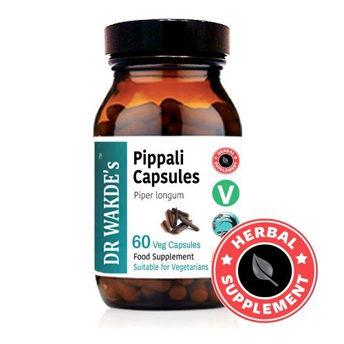 DR WAKDE'S® Pippali Capsules (Long Pepper) I 100% Herbal I 60 Veggie Capsules I Ayurvedic Supplement I FREE SHIPPING on multiples I Quantity Discounts I Same Day Dispatch by DR WAKDE'S® Natural Health Care, London