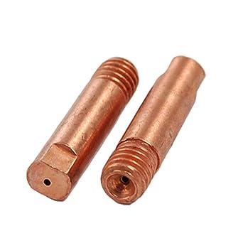 Sourcingmap - 2 piezas 0,8 x puntas de contacto de cobre de 25 mm