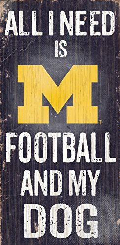 Fan Creations University of Michigan Football and My Dog Sign, - Outlet Malls Michigan Usa In