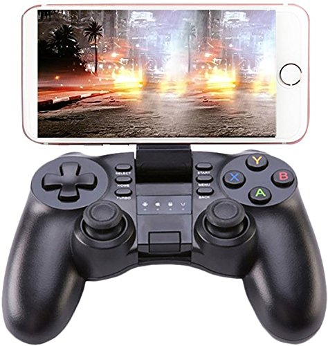 PowMax Bluetooth Game Controller, PC Gamepad Joystick With Vibration Feedback for Android Phone/IOS/PC/PlayStation 3(Black)