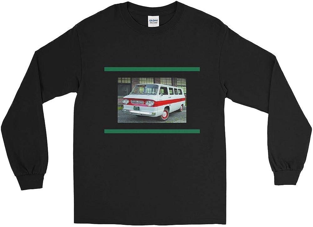 Classic Chevy Corvair Van Men/'s Long Sleeve Shirt Black