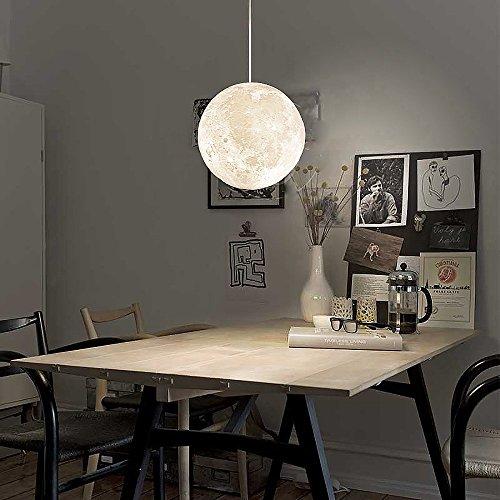 Siminda 7.8 Inch 3D Printing LED Big Moon Lamp Acrylic Moon Chandelier Kids  Room Home Decor Christmas Gift